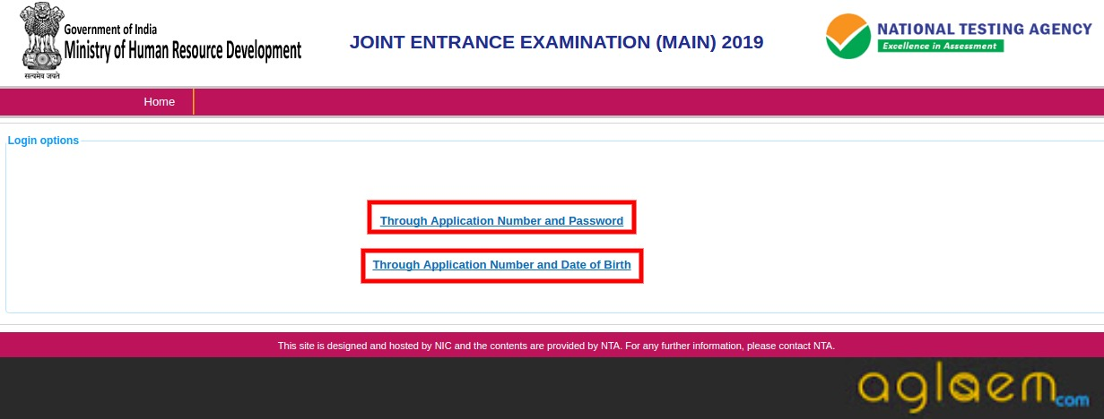 JEE Main 2019 Answer Key