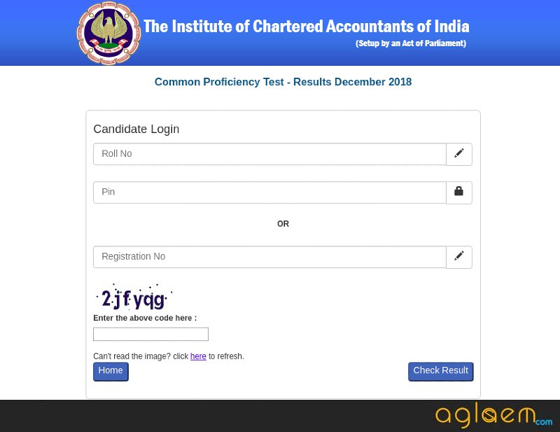 CA CPT Result 2018 Login