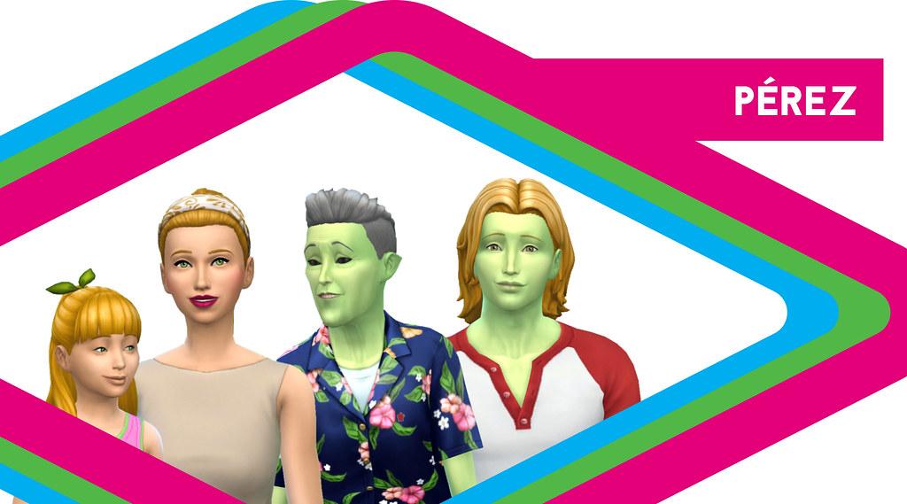 Sims de antaño: Los Pérez