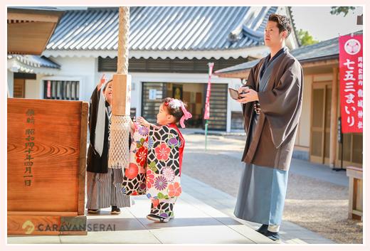 兄弟そろっての七五三  龍城神社 愛知県岡崎市