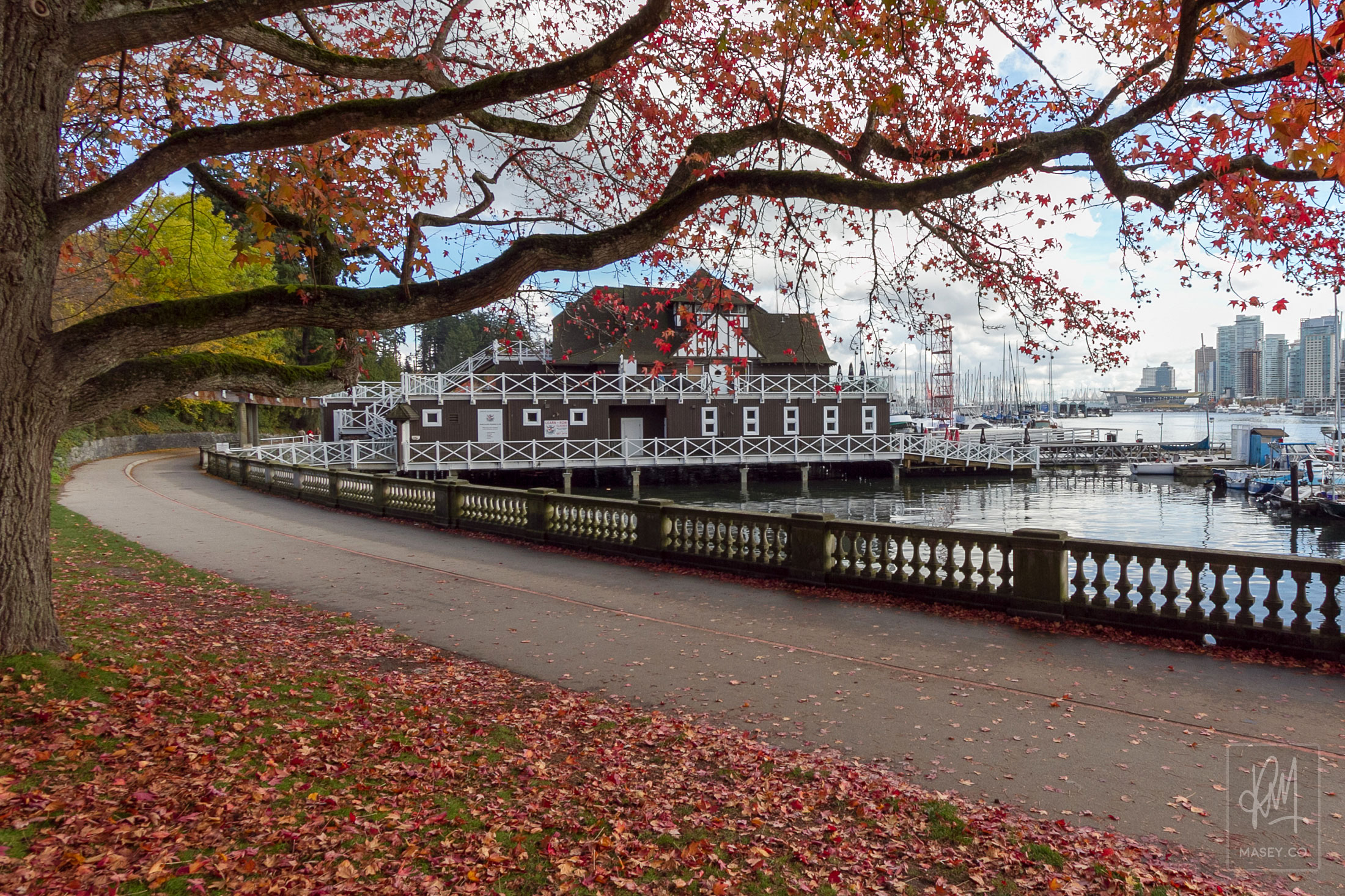The picturesque Vancouver Rowing Club.
