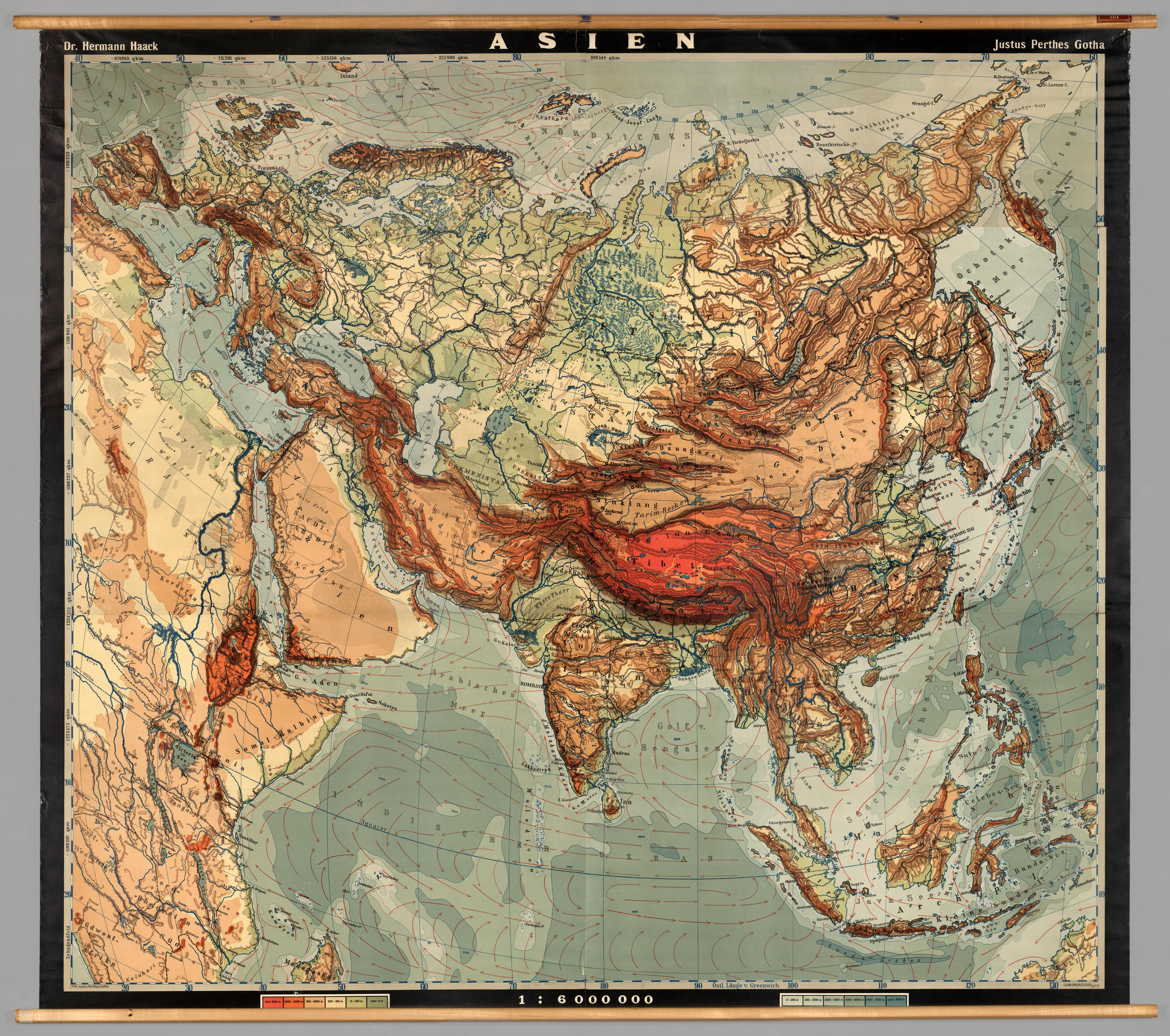 Map Of Asia 1950.Huge Wall Map Of Asia 1950 Mapporn