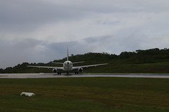 Turning at end runway to taxi - VH-VNP Virgin Australia A320-231 - Christmas Island