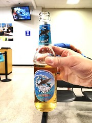 Cayman Islands' own, White Tip Lager.