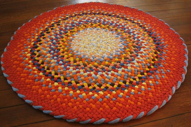 """ orange blue round braided rug  i love the way this rug …  flickr, Rug/"