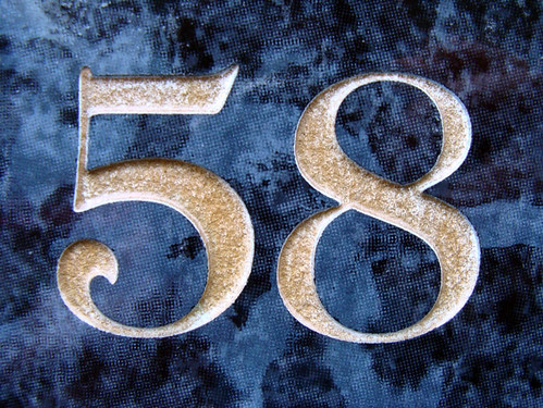 No 58 - gold on blue | I've been collecting house numbers ...