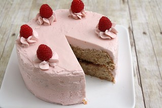 Hazelnut Raspberry Layer Cake | by Tracey's Culinary Adventures