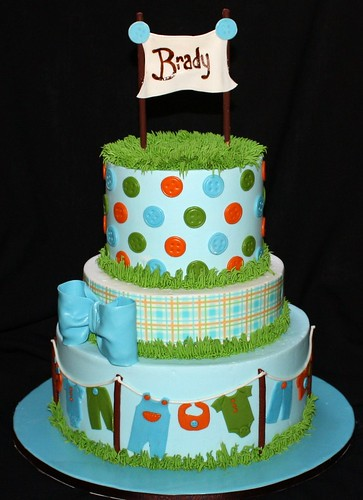 Clothesline Themed Baby Shower Cakes