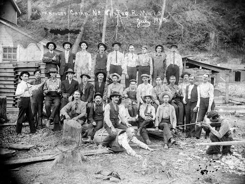 logging camp on the tug river 1905 hillboy2300 flickr