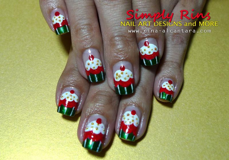Christmas Nail Art Cupcakes 04 Rina Alcantara Flickr