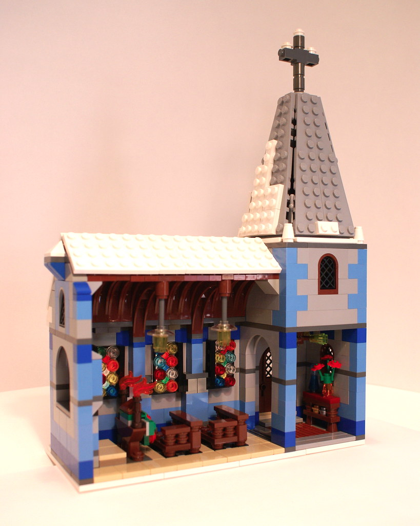 Lego Winter Village Church Interior Rear View Of The Wint Flickr