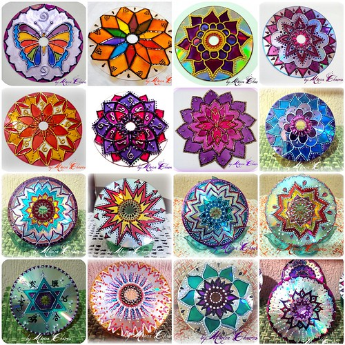 MANDALAS EM CD RECICLADO... | by Monica Chaves Mandalas