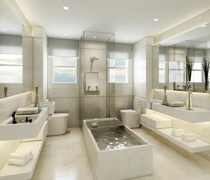 Perspectiva Artística Do Banheiro Master Cyrela Plano Plano Flickr