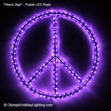 Peace symbolsign led rope light display beautiful represe flickr olympicholidaylighting peace symbolsign led rope light display by olympicholidaylighting aloadofball Images