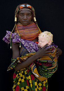 Albino baby girl and her Mwila mother - Angola | by Eric Lafforgue