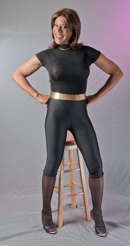 Mature sexy spandex
