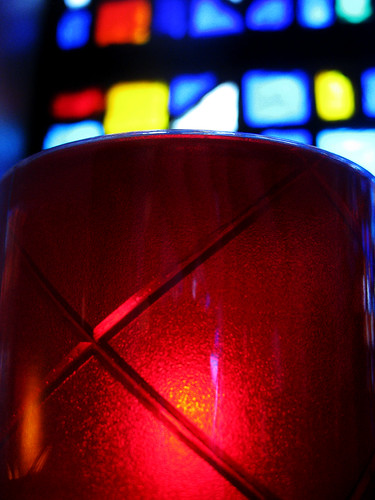 Candle and Stained Glass | by shaire productions