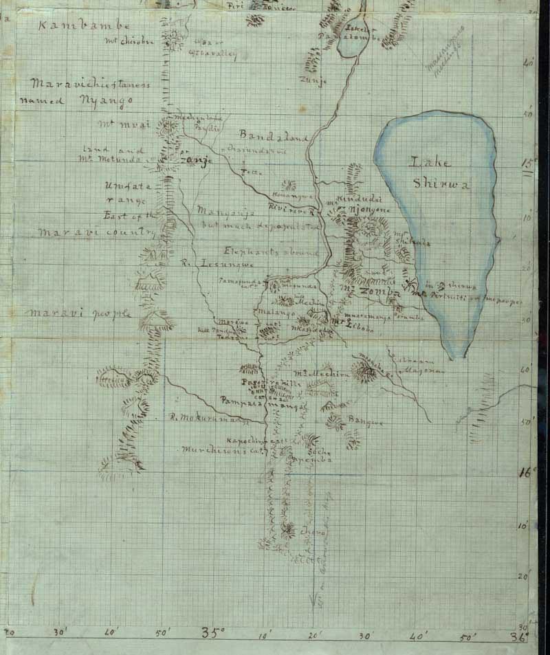Lake Malawi Africa Map.David Livingstone S Map Of Lake Malawi Africa This Map Of Flickr