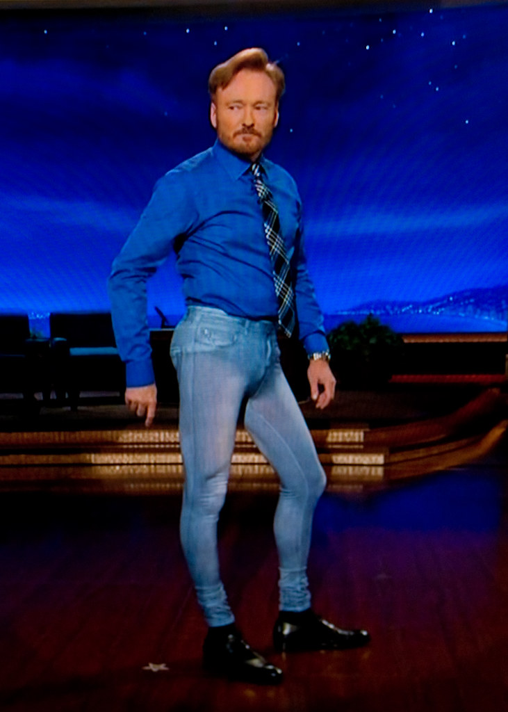 conan in his pretty jeggings lol shot off the tv we w flickr