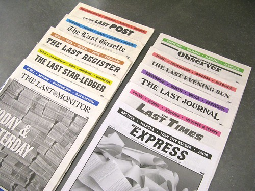 10 issues of 'The Last Newspaper' | by latitudes-flickr