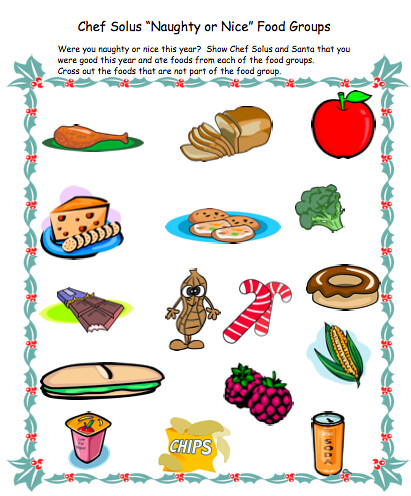 Food Groups Holiday Nutrition Worksheet | Puzzles, worksheet… | Flickr