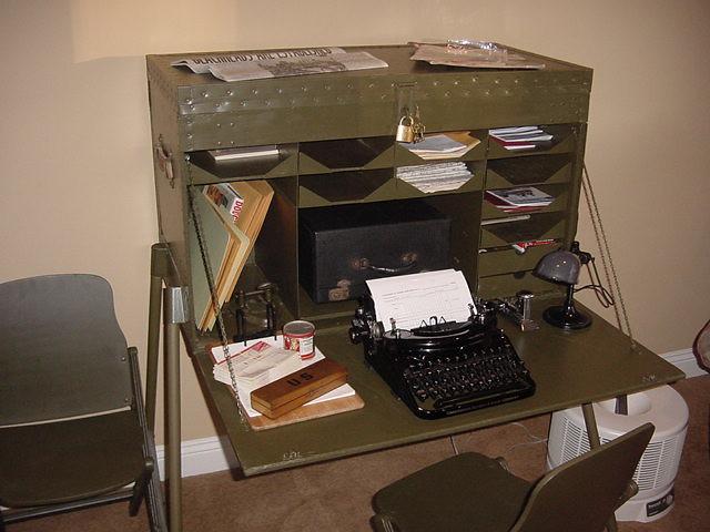 WWII Field Desk   Flickr