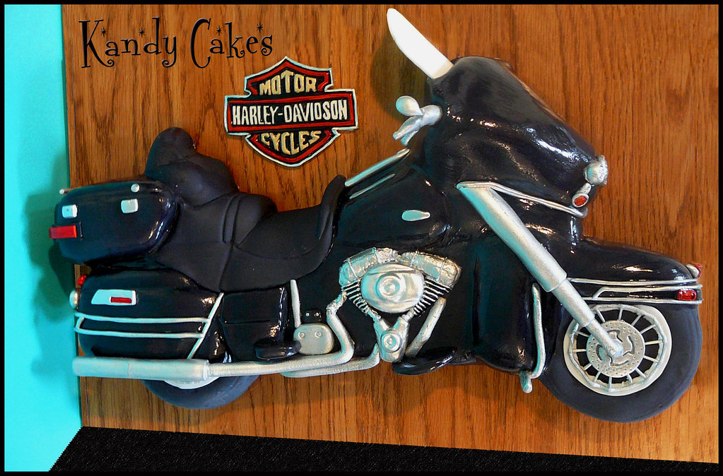 Harley Davidson Motorcycle Cake by Kandy Cakes A friend of Flickr