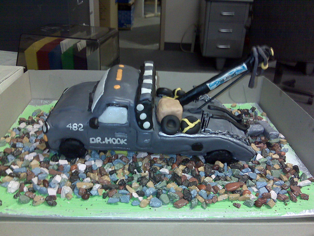 Tow Truck Cake Tow Truck Cake White Caked Iced In Butter Flickr