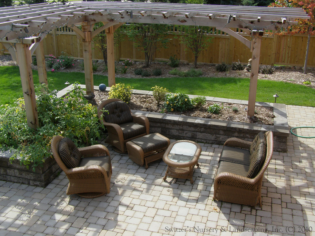 l shaped pergola and arbor design | flickr