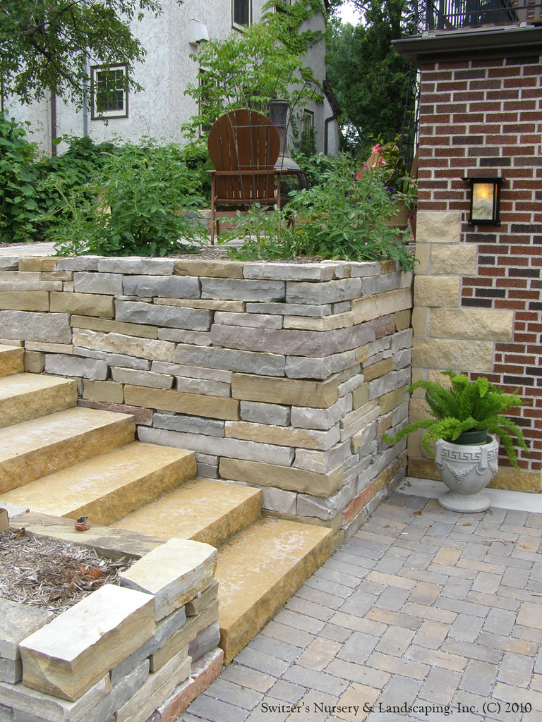 complete backyard renovation kasota natural stone steps u2026 flickr