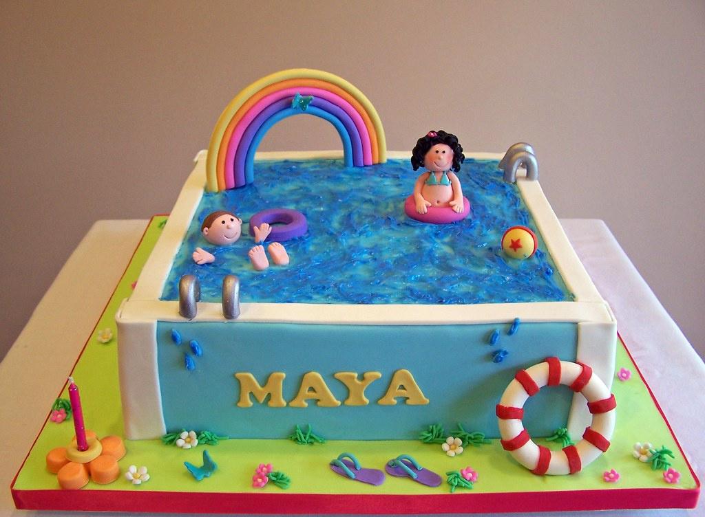 Pool Party Cake | Beth | Flickr