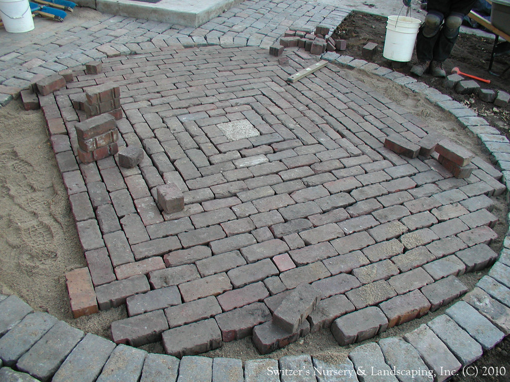 ... Salvaged Granite Cobble U0026 Clay Paver Patio | By Switzeru0027s Nursery U0026  Landscaping