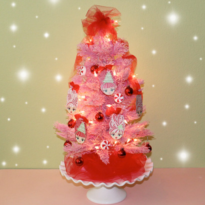 glam elf christmas tree by the gypsy factory