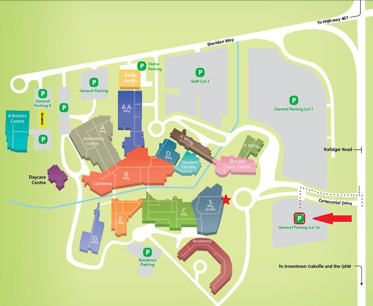 sheridan SCAET map Map of Sheridan College for Dec 1410 e Flickr