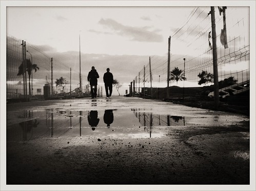 """The Long Walk on a (Post-Rain) Winter Afternoon"" 