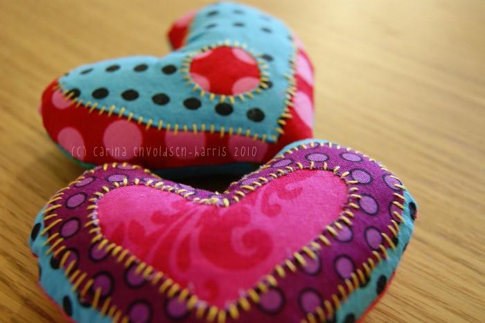 Sew and appliqué hearts ged carina envoldsen harris