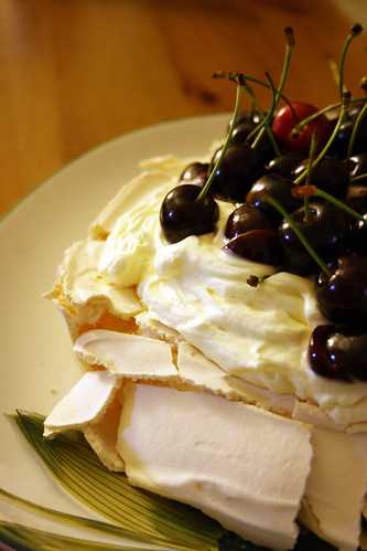 Cherry Pavlova | by the_red_deer