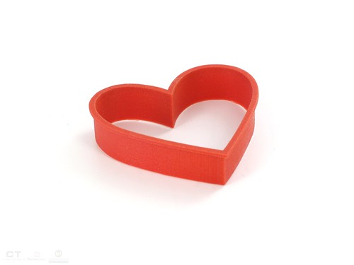 CreativeTools.se - PackshotCreator - 3D printed - ZPrinter - Heart-shaped cookie-cutter - hjärtformad kakform | by Creative Tools