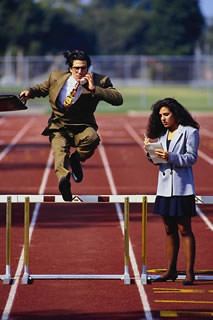 Business-Businessman_jumping_track_hurdles | by kylemac