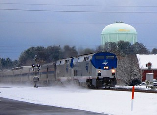 Amtrak 92 at Apex, NC in the Snow | by Lost Bouy