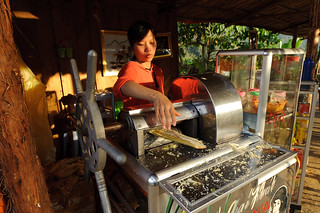 Vietnamese Woman Making Sugarcane Juice | by goingslowly