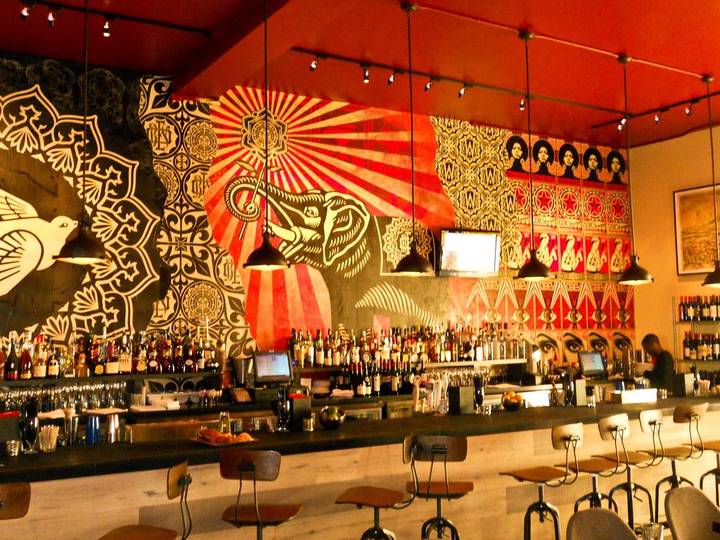 shepard fairey obey giant at wynwood kitchen bar interior walls - Wynwood Kitchen And Bar