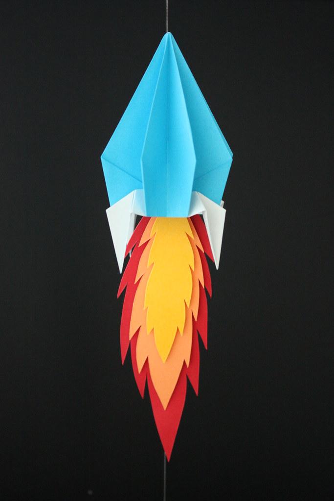 By Bevolee Origami Space Rocket