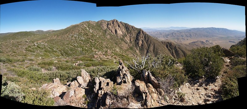 Panorama view of Garnet Peak