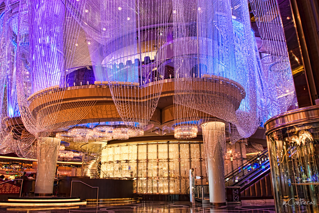 The chandelier at the cosmopolitan las vegas nv an inhabi flickr the chandelier at the cosmopolitan las vegas nv by mparazzo mozeypictures Choice Image