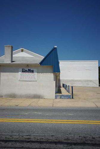 White Building Blue Roof Dover Delaware 8 7 2010