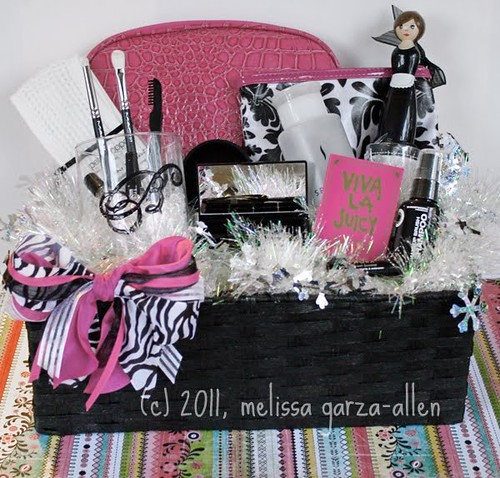 I Made Fun Makeup Gift Baskets For My