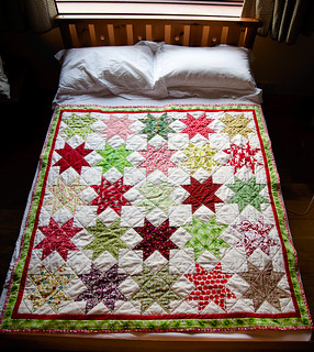 Christmas Star Quilt - on spare bed | by mybearpaw