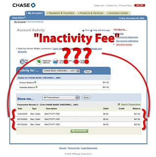 Chase Checking Acct Inactivity Fee | by Leo Klein