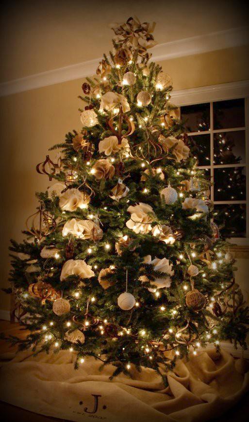 2010 burlap twine christmas tree by crybabyink - Burlap Christmas Tree
